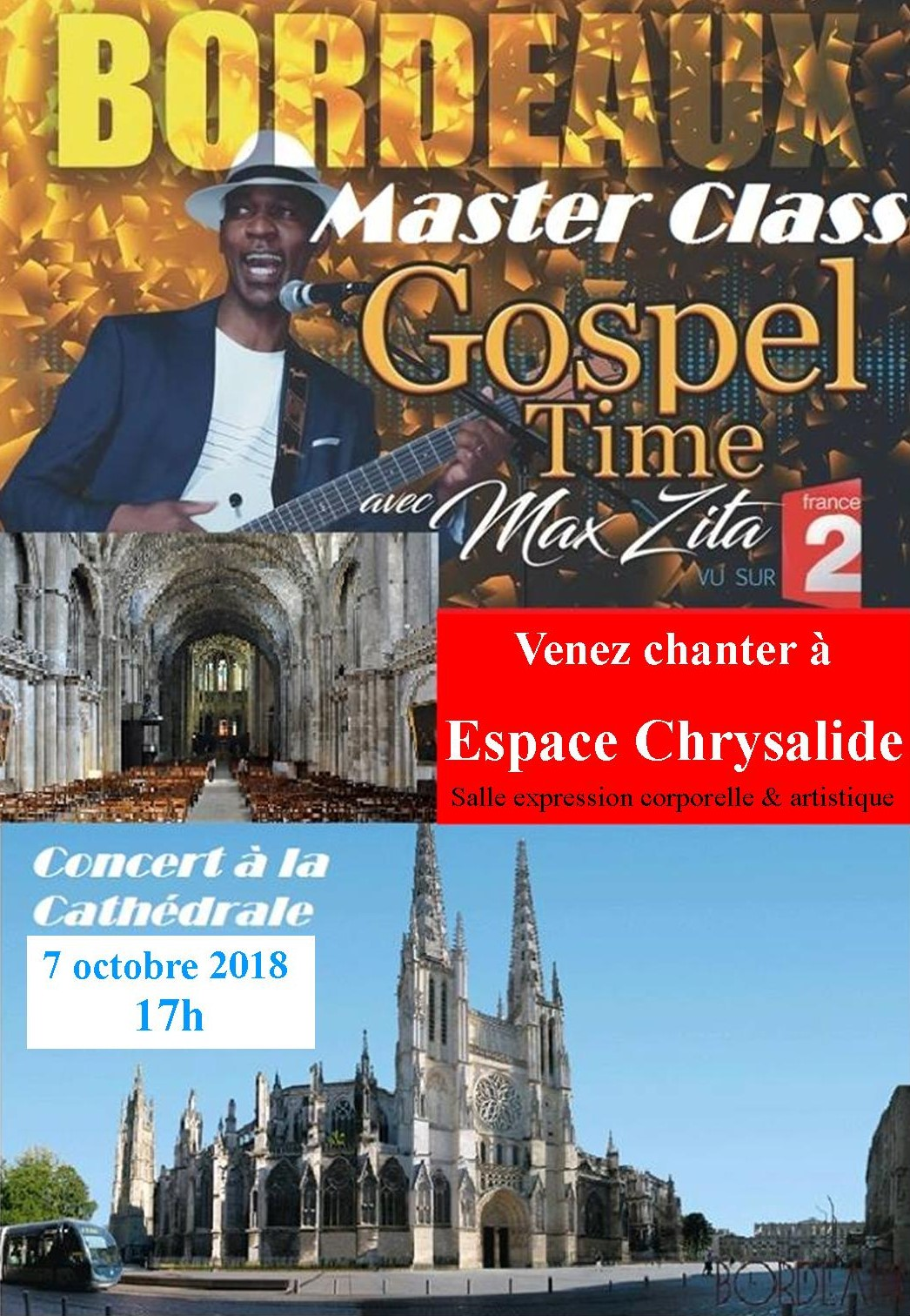 Concert Gospel Cathedrale 7 oct 18